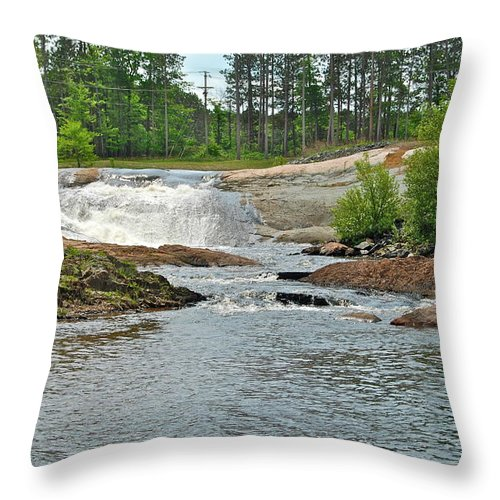 Waterfall Throw Pillow featuring the photograph Frank J Russel Falls 2 by Michael Peychich