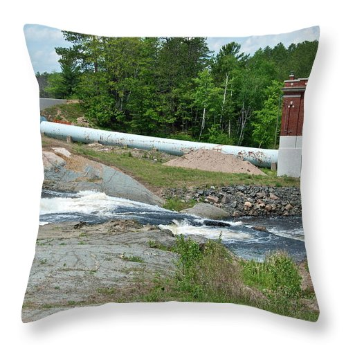 Waterfall Throw Pillow featuring the photograph Frank J Russell Falls by Michael Peychich