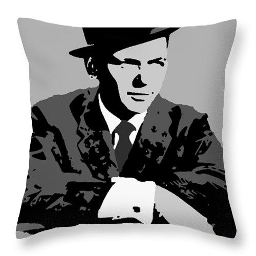 Frank Throw Pillow featuring the digital art Frank Sinatra by Paul Van Scott