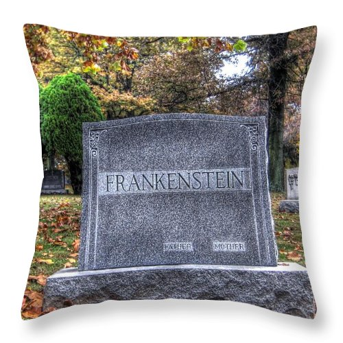 Hdr Throw Pillow featuring the photograph Frankenstein by Jane Linders