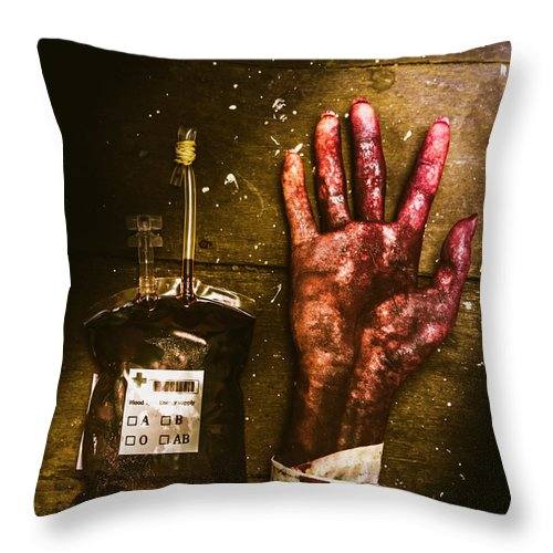Severed Throw Pillow featuring the photograph Frankenstein Transplant Experiment by Jorgo Photography - Wall Art Gallery