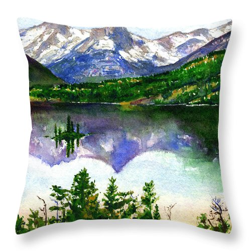 Watercolor Throw Pillow featuring the painting Franks Painting by John D Benson