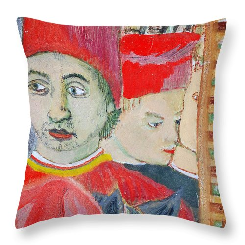 Italian Throw Pillow featuring the painting Fratello by Kurt Hausmann