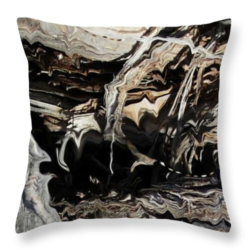 Abstract Art Throw Pillow featuring the photograph Frayed and Distracted Thoughts by Stephanie H Johnson