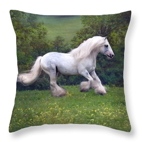 Horse Throw Pillow featuring the photograph Free Billy by Fran J Scott