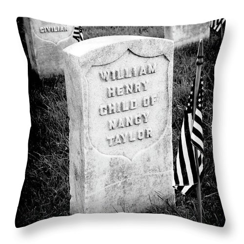 Arlington National Cemetery Throw Pillow featuring the photograph Free Blacks by Paul W Faust - Impressions of Light