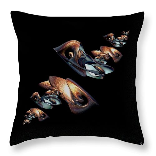 Copper Throw Pillow featuring the digital art Free Falling by Julie Grace