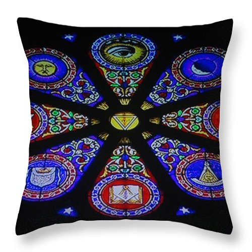Free Mason Throw Pillow featuring the photograph Free Masons by Rob Hans