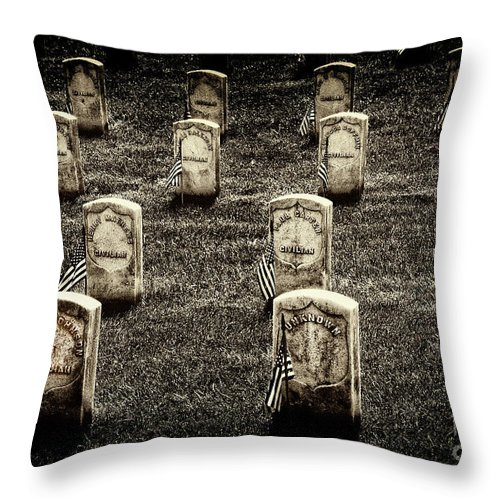 Arlington National Cemetery Throw Pillow featuring the photograph Free Slaves by Paul W Faust - Impressions of Light