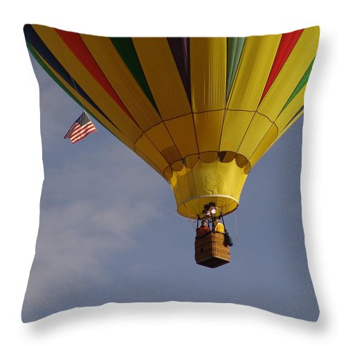 Balloon Throw Pillow featuring the photograph Freedom by Carol Milisen