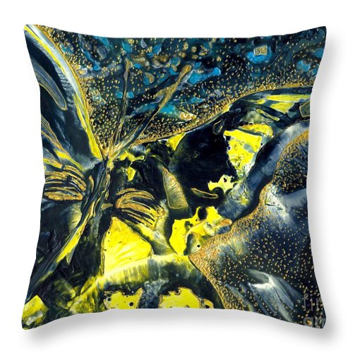Butterfly Throw Pillow featuring the painting Freedom For Margot by Heather Hennick