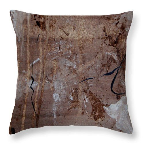 Abstract Throw Pillow featuring the painting Freedom Of Expression by Ruth Palmer