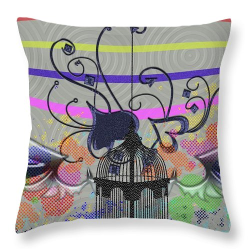 Heart Throw Pillow featuring the digital art Freedom Of Heart by Ankeeta Bansal