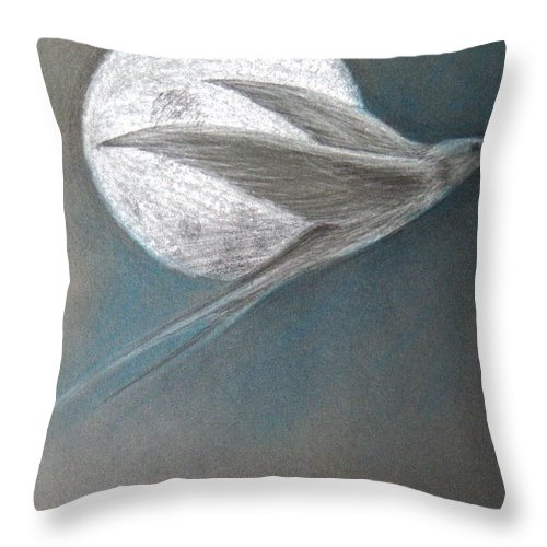 Shaun Throw Pillow featuring the drawing Freedom by Shaun McNicholas