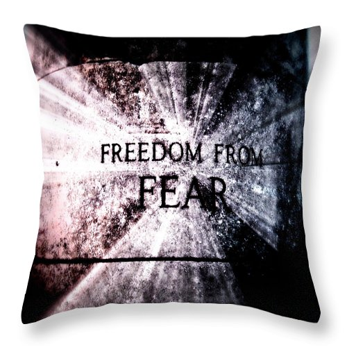 July 4th Throw Pillow featuring the photograph Freedom by Tatiana Gorbett