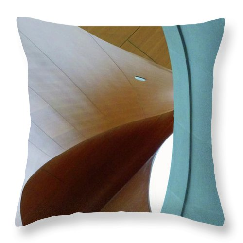 Stairway Throw Pillow featuring the photograph Freeform by PJ Boylan