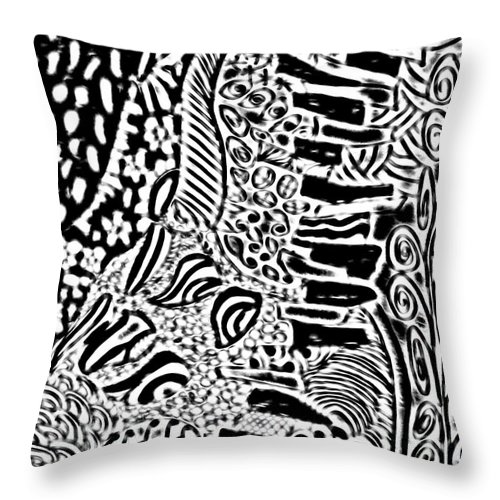 Throw Pillow featuring the digital art Freestyle 3 Abstract by Cathy Anderson