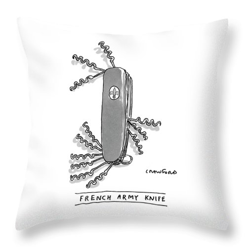 French Army Knife Throw Pillow