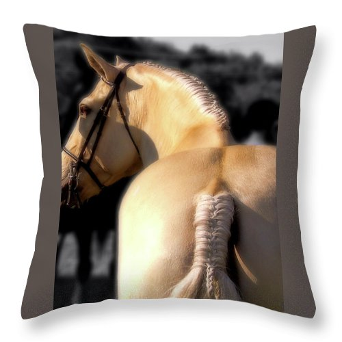 Horse Throw Pillow featuring the photograph French Braid by JAMART Photography