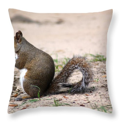 Wild Life Throw Pillow featuring the photograph French Fries by Donna Bentley