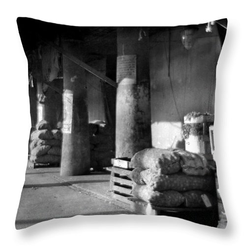 French Market Throw Pillow featuring the photograph French Market by Crescent City Collective