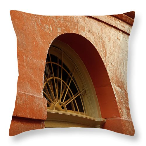 French Quarter Throw Pillow featuring the photograph French Quarter Arches by KG Thienemann
