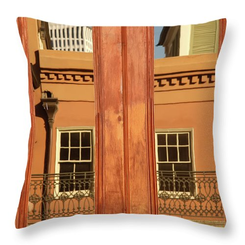 New Orleans Throw Pillow featuring the photograph French Quarter Reflection by KG Thienemann