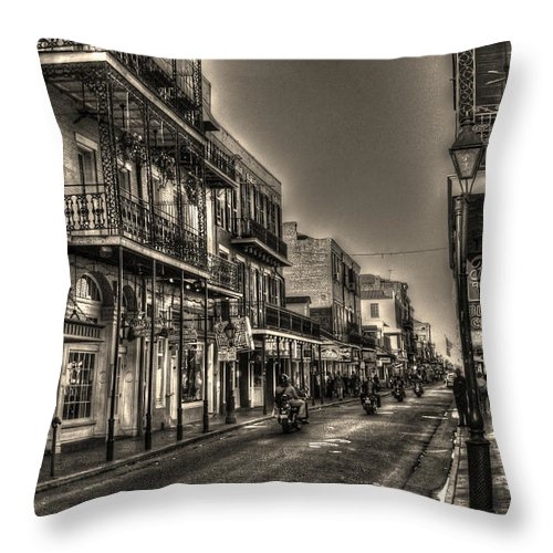 French Quarter Throw Pillow featuring the photograph French Quarter Ride by Greg and Chrystal Mimbs