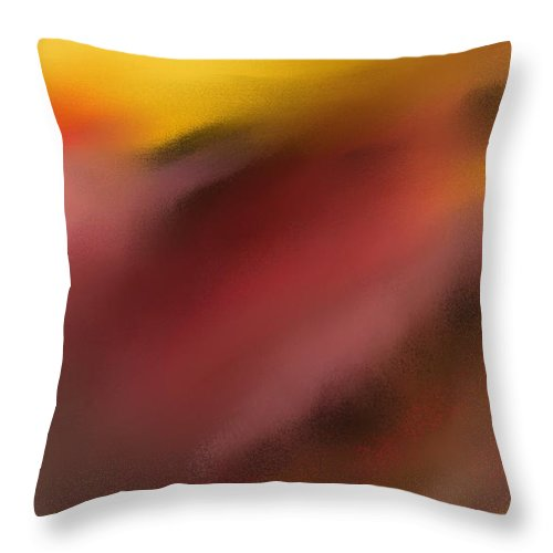 Digital Painting Throw Pillow featuring the digital art Frenetic Landscape by David Lane