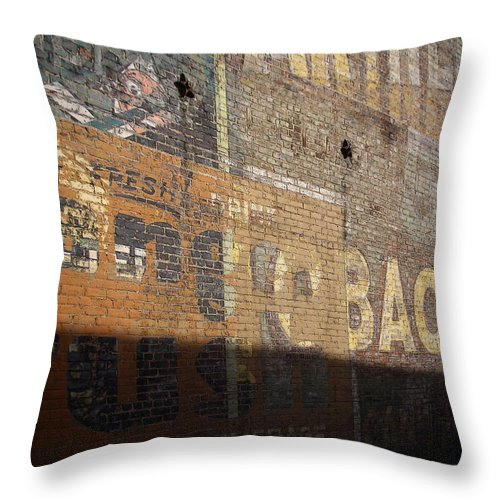 Bricks Throw Pillow featuring the photograph Fresh Crush Tobacco by Tim Nyberg