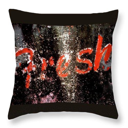 Fresh Throw Pillow featuring the photograph Fresh by Herman Robert
