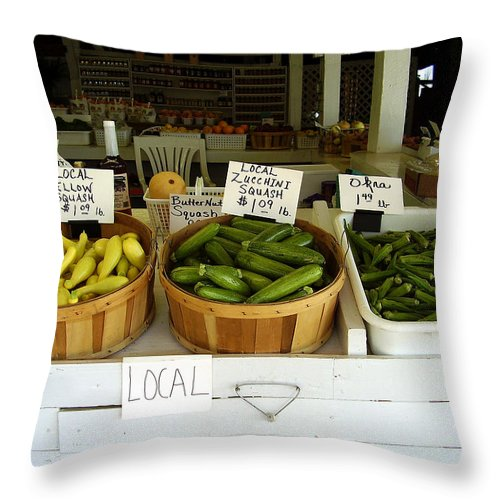 Fresh Produce Throw Pillow featuring the photograph Fresh Produce by Flavia Westerwelle