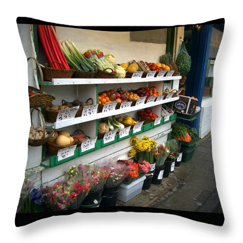 Shaftesbury Throw Pillow featuring the photograph Fresh Produce by Tim Nyberg
