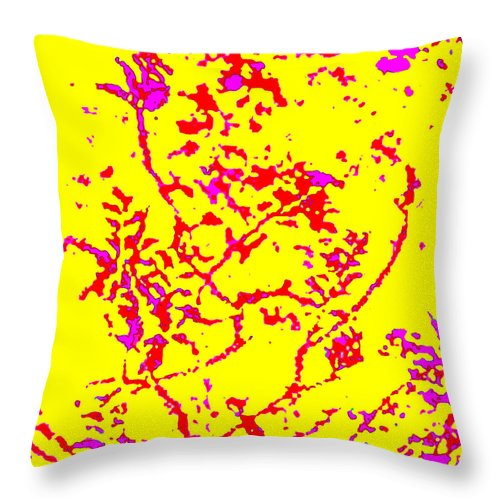 Square Throw Pillow featuring the digital art Frolic by Eikoni Images