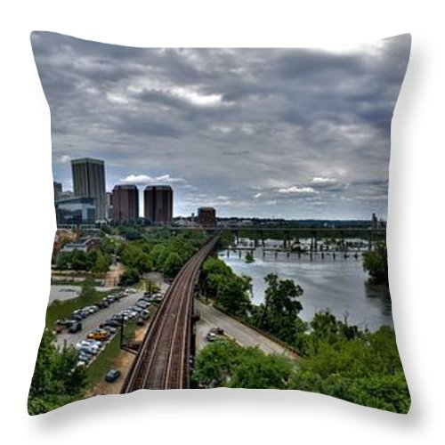 Panorama Throw Pillow featuring the photograph From A Distance by Tim Wilson