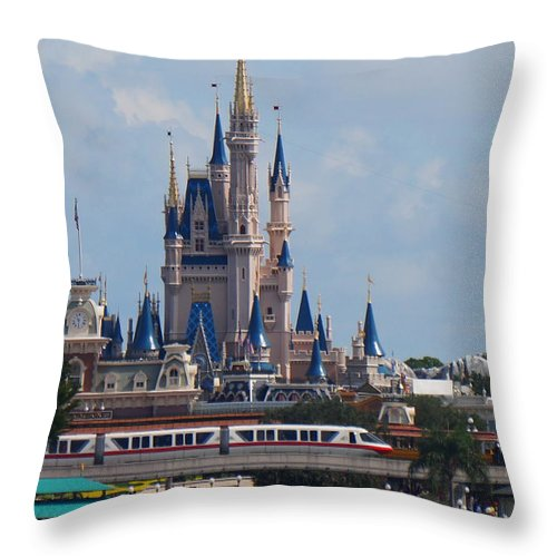 Disney Throw Pillow featuring the photograph From Afar by Ronald Chacon