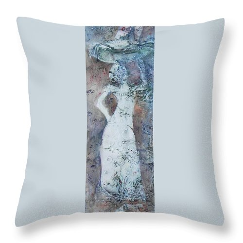 African Woman Throw Pillow featuring the painting From Generation To Generation by Ilona Petzer
