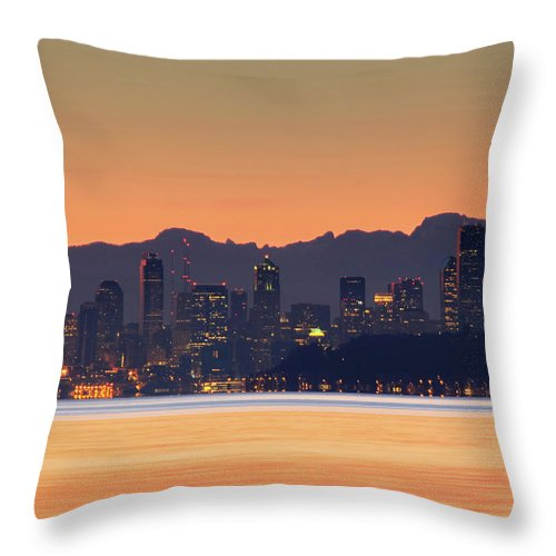 Silhouette Throw Pillow featuring the photograph From Night To Day by E Faithe Lester