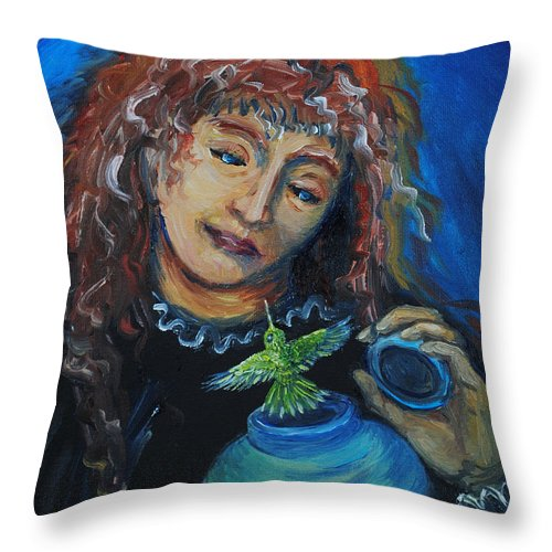 Mystical Throw Pillow featuring the painting From Our Sweet Mother's Ashes by Dawn Senior-Trask
