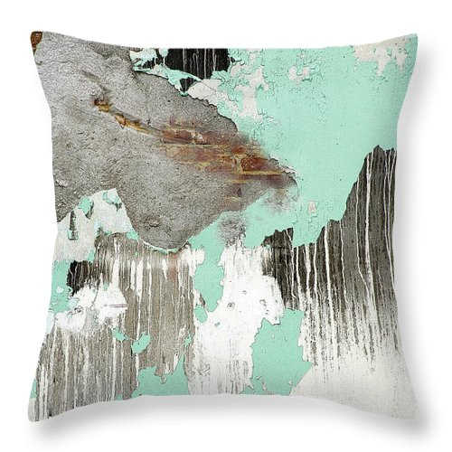 Abstract Throw Pillow featuring the photograph From The Ashes by Jacqueline Milner