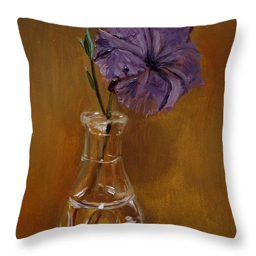 Impressionism Throw Pillow featuring the painting From The Garden by Barbara Andolsek