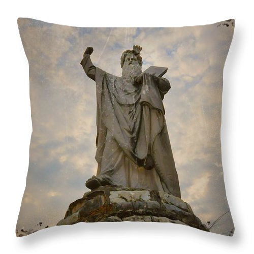 Moses Throw Pillow featuring the photograph From The Mountain On High by Bill Cannon