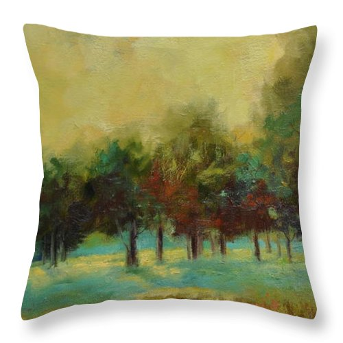Pastoral Throw Pillow featuring the painting From The Other Side II by Ginger Concepcion