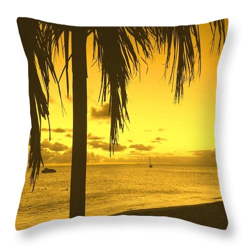 Sunset Throw Pillow featuring the photograph From The Shiggady Shack by Ian MacDonald