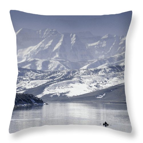 Mountains Throw Pillow featuring the photograph Frosted Mountains by Scott Sawyer