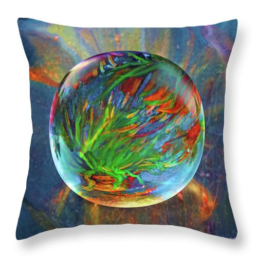 Frost Throw Pillow featuring the painting Frosted Still by Robin Moline
