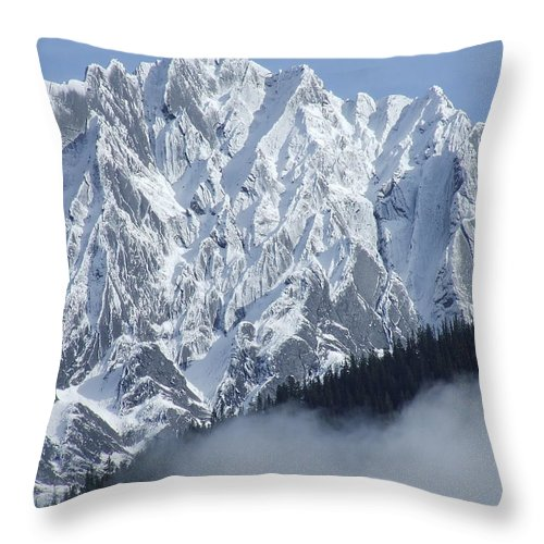 Rocky Throw Pillow featuring the photograph Frozen In Time by Tiffany Vest