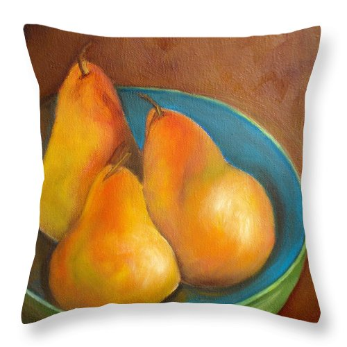 Fruit Throw Pillow featuring the painting Fruit Of The Spirit--sold by Susan Dehlinger