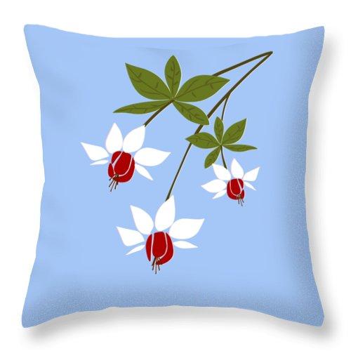 Fuchsia Throw Pillow featuring the digital art Fuchsia by Anastasiya Malakhova