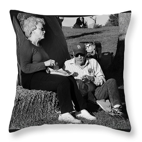 Fall Festival Throw Pillow featuring the photograph Full Belly by Sheri Bartoszek